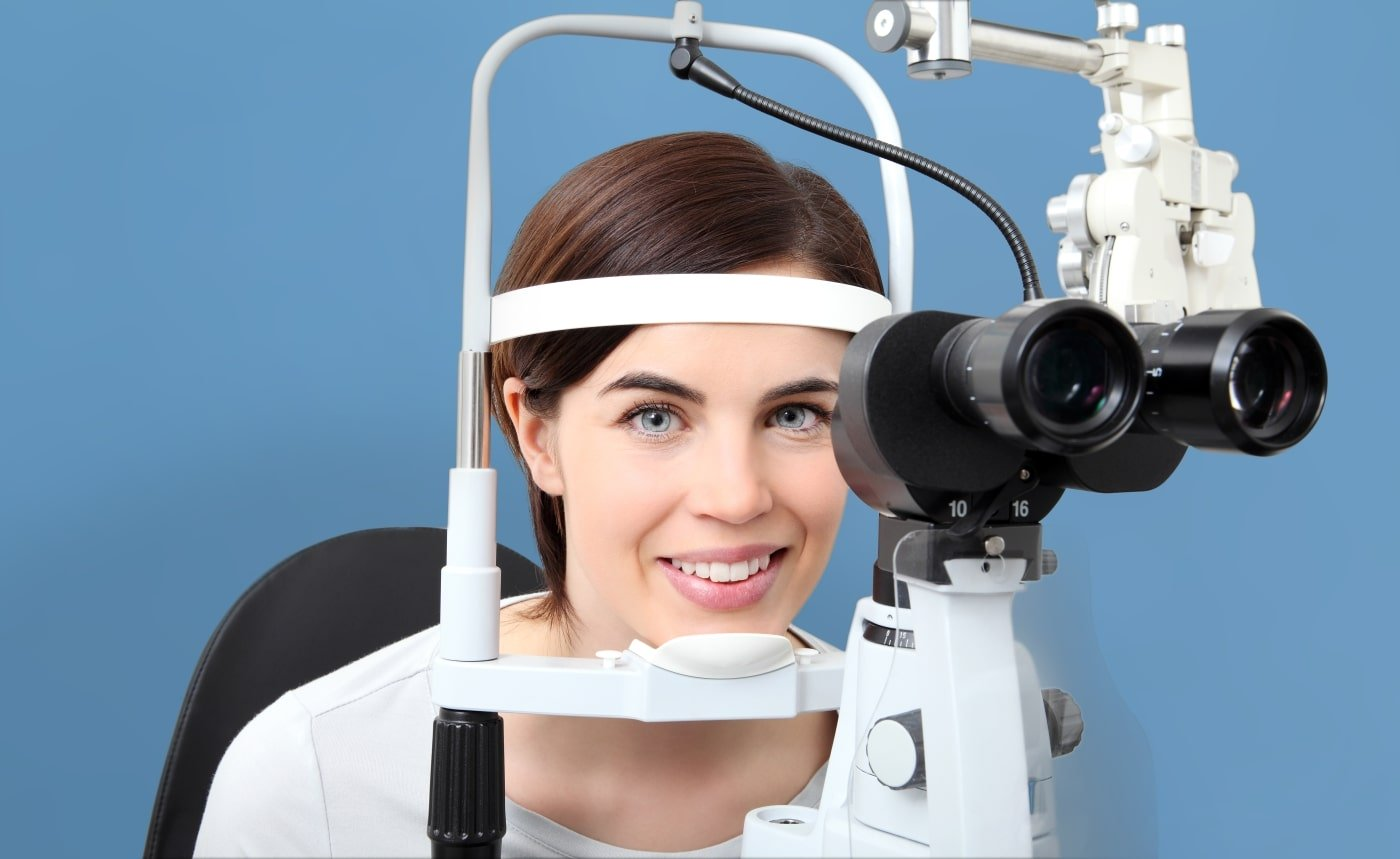 Comprehensive Eye Exam - Patient is smiling